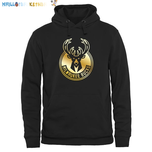 Hoodies NBA Milwaukee Bucks Noir Or Pas Cher