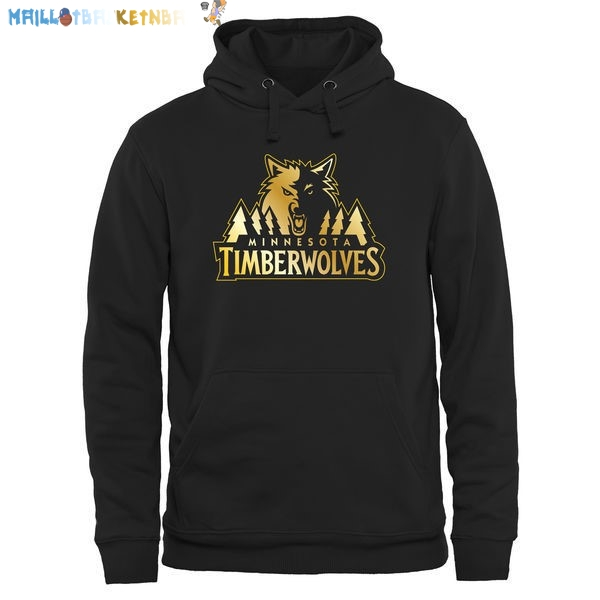 Hoodies NBA Minnesota Timberwolves Noir Or Pas Cher
