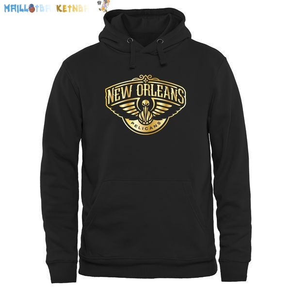 Hoodies NBA New Orleans Pelicans Noir Or Pas Cher
