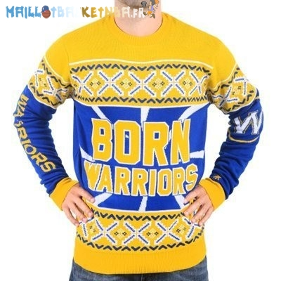 NBA Unisex Ugly Sweater Golden State Warriors Jaune Pas Cher
