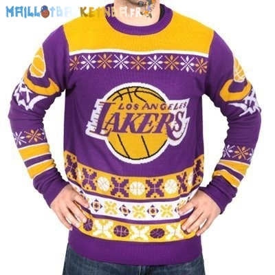 NBA Unisex Ugly Sweater Los Angeles Lakers Jaune Pas Cher
