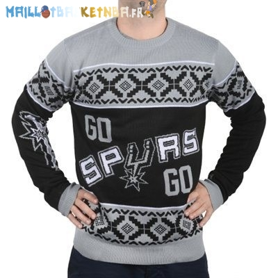 NBA Unisex Ugly Sweater San Antonio Spurs Gris Pas Cher