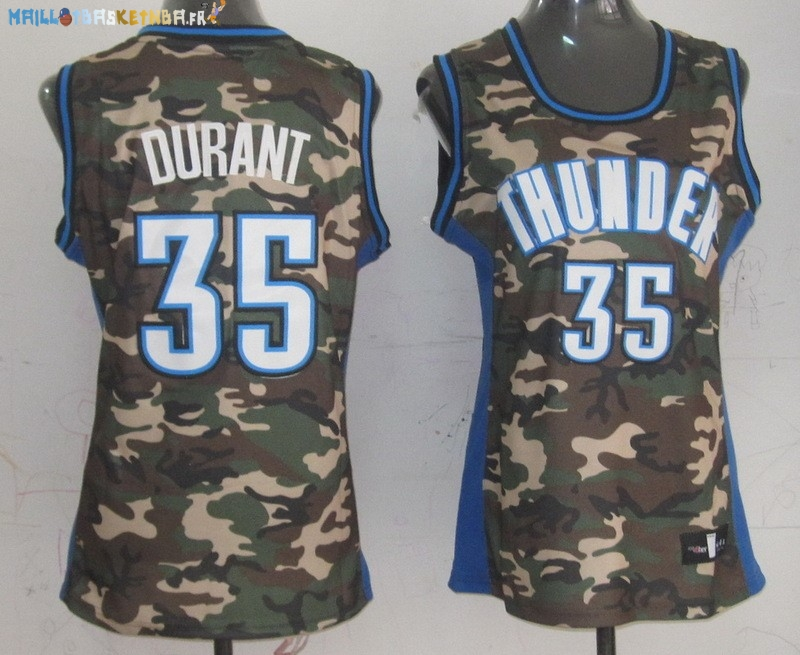 Maillot NBA Femme 2013 Camouflage Fashion NO.35 Kevin Durant Pas Cher