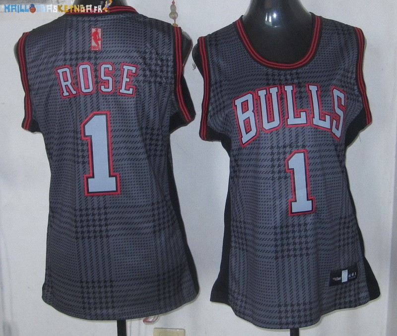 Maillot NBA Femme 2013 Static Fashion NO.1 Derrick Rose Pas Cher