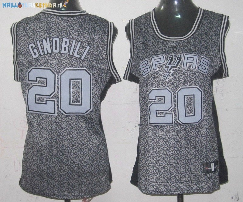 Maillot NBA Femme 2013 Static Fashion NO.20 Manu Ginóbili Pas Cher