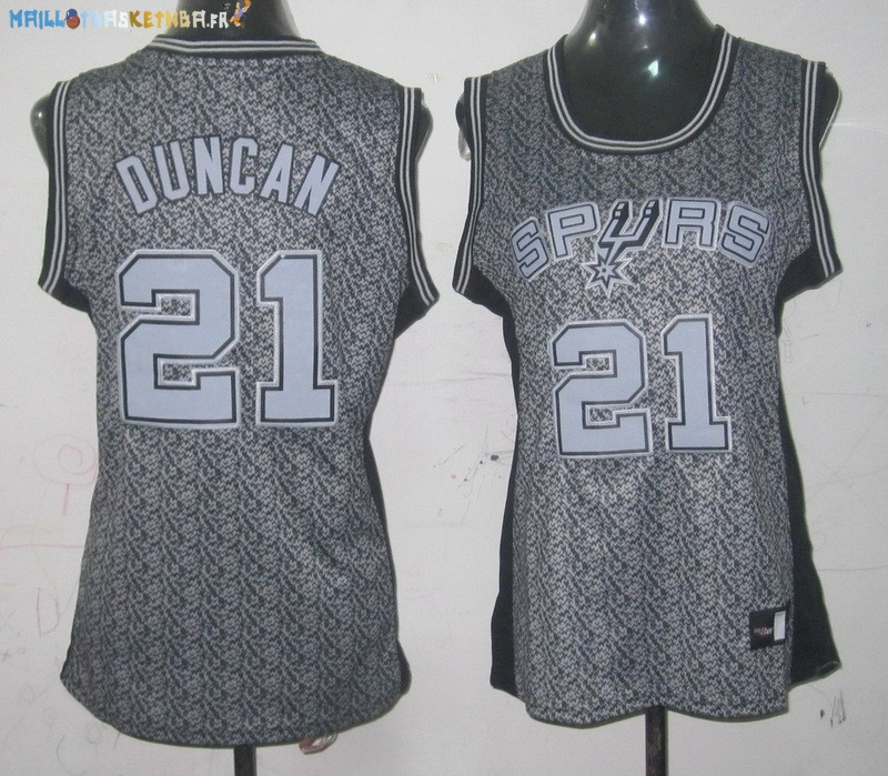 Maillot NBA Femme 2013 Static Fashion NO.21 Tim Duncan Pas Cher
