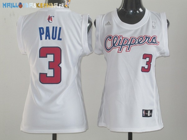 Maillot NBA Femme Los Angeles Clippers NO.3 Chris Paul Blanc Pas Cher