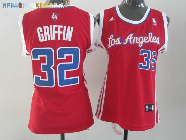 Maillot NBA Femme Los Angeles Clippers NO.32 Blake Griffin Rouge Pas Cher