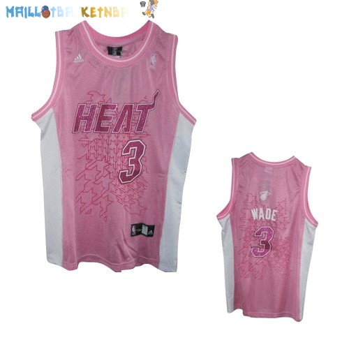 Maillot NBA Femme Miami Heat NO.3 Dwyane Wade Rose Pas Cher