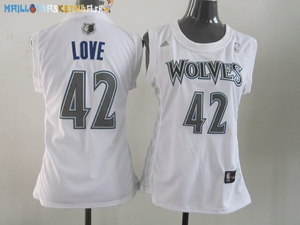 Maillot NBA Femme Minnesota Timberwolves NO.42 Kevin Love Blanc Pas Cher