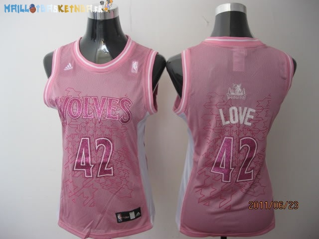 Maillot NBA Femme Minnesota Timberwolves NO.42 Kevin Love Rose Pas Cher