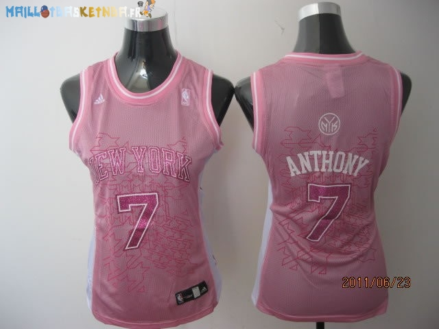 Maillot NBA Femme New York Knicks NO.7 Carmelo Anthony Rose Pas Cher