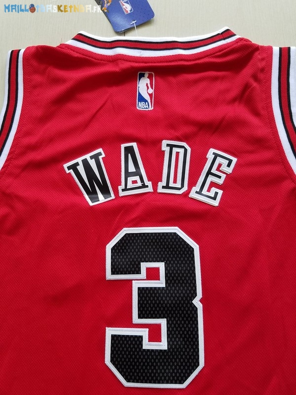 maillot nba enfants chicago bulls no 3 dwyane wade rouge pas cher basket pas cher personnaliser. Black Bedroom Furniture Sets. Home Design Ideas