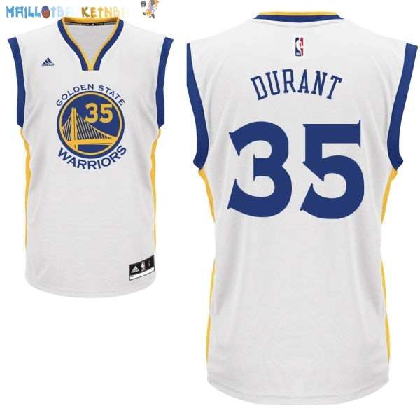 Maillot NBA Enfants Golden State Warriors NO.35 Kevin Durant Blanc Pas Cher