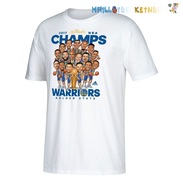 Maillot Golden State Warriors Champions 2017 Blanc Pas Cher