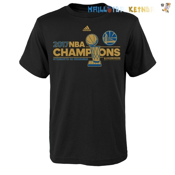 Maillot Golden State Warriors Champions 2017 Noir Oro Pas Cher