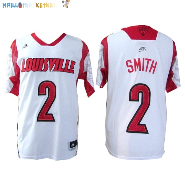 Maillot NCAA Louisville NO.2 Smith Blanc Pas Cher