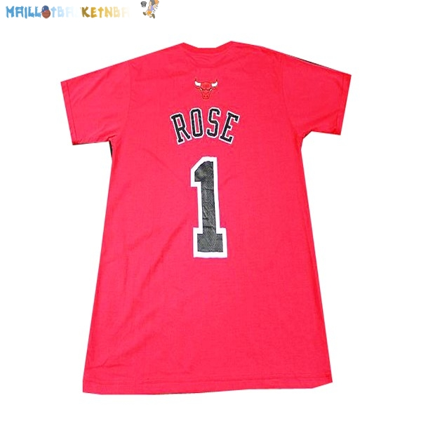 Maillot NBA Chicago Bulls NO.1 Rose Rouge Pas Cher