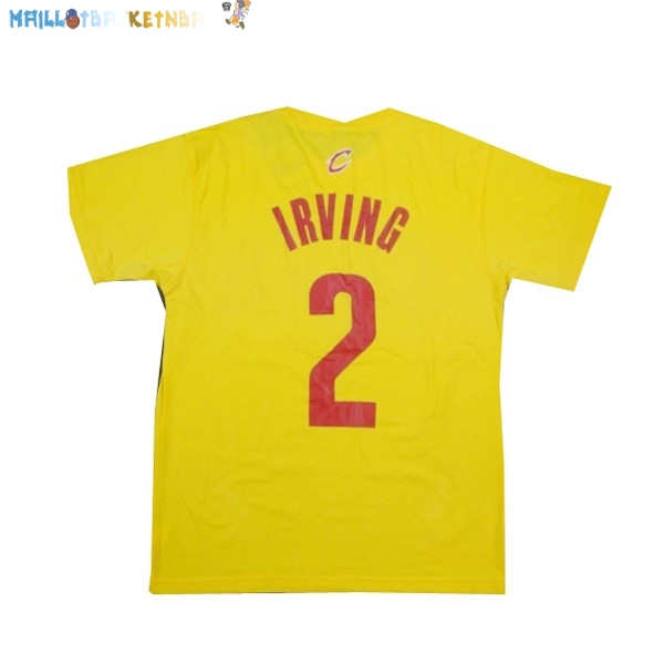 Maillot NBA Cleveland Cavaliers NO.2 Irving Jaune Pas Cher