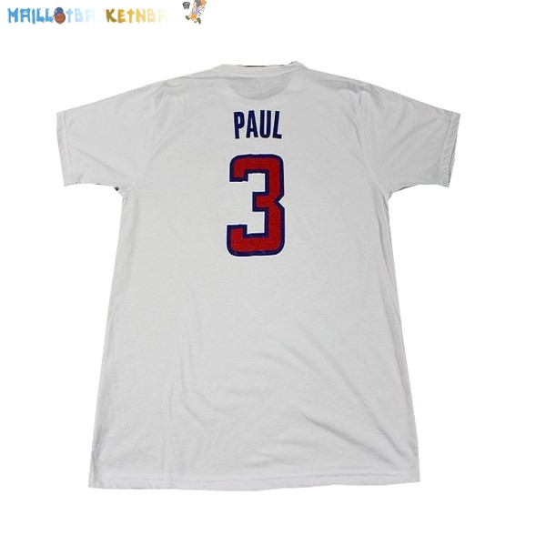 Maillot NBA Los Angeles Clippers NO.3 Paul Blanc Pas Cher