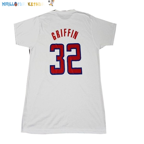 Maillot NBA Los Angeles Clippers NO.32 Griffin Blanc Pas Cher