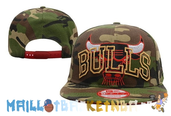 Casquette Snapback NBA 2016 Chicago Bulls Camouflage Vert Pas Cher