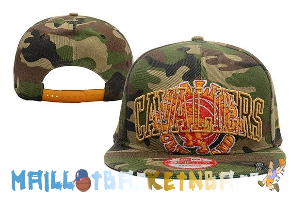 Casquette Snapback NBA 2016 Cleveland Cavaliers Camouflage Vert Pas Cher