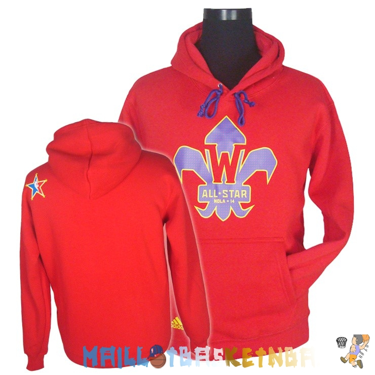 Hoodies NBA 2014 All Star Rouge Pas Cher
