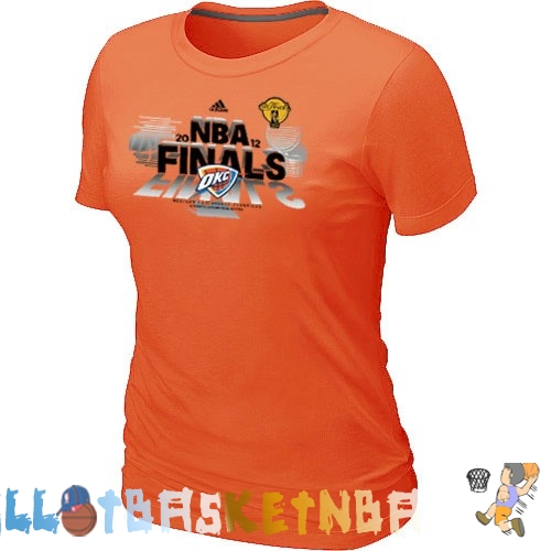 Maillot Femme NBA Oklahoma City Thunder Orange 1 Pas Cher