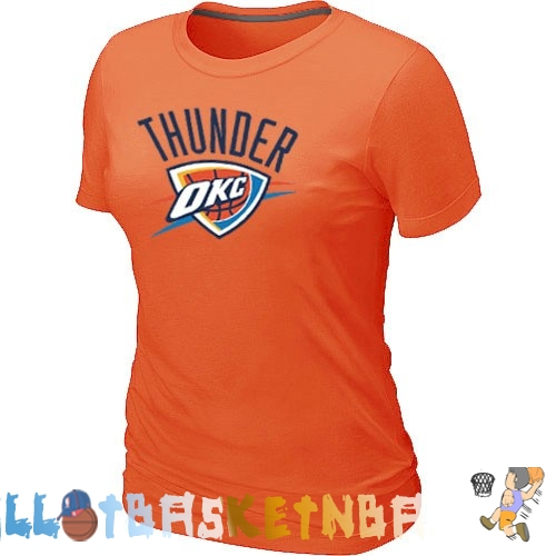 Maillot Femme NBA Oklahoma City Thunder Orange Pas Cher