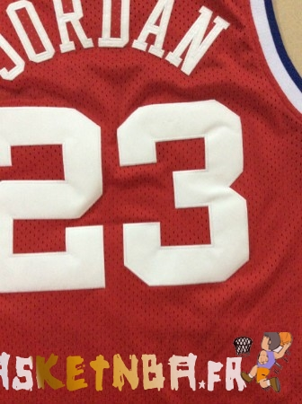 Maillot NBA 1989 All Star NO.23 Michael Jordan Rouge Pas Cher