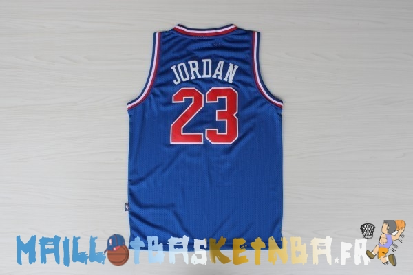 Maillot NBA 1992 All Star NO.23 Michael Jordan Bleu Pas Cher