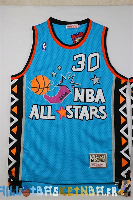 Maillot NBA 1996 All Star NO.30 Scottie Pippen Bleu Pas Cher