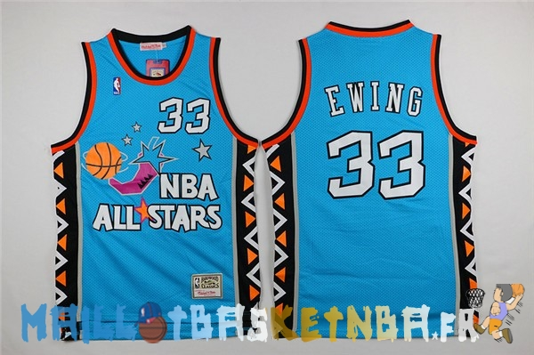 Maillot NBA 1996 All Star NO.33 Patrick Ewing Bleu Pas Cher