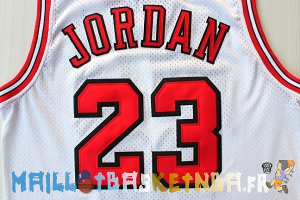 Maillot NBA 1998 All Star NO.23 Michael Jordan Blanc Pas Cher