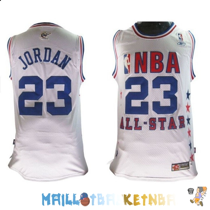 Maillot NBA 2003 All Star NO.23 Michael Jordan Blanc Pas Cher