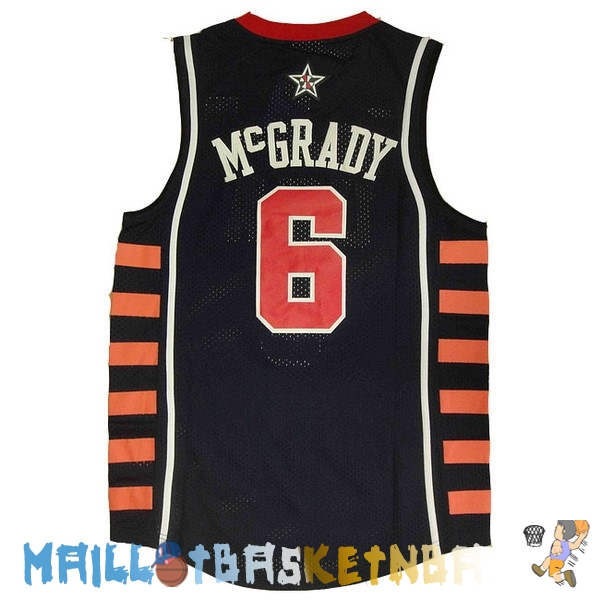 Maillot NBA 2004 USA McGrady NO.6 Noir Pas Cher