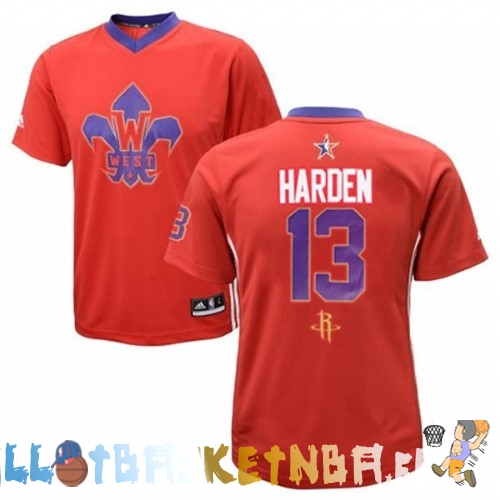 Maillot NBA 2014 All Star NO.13 James Harden Rouge Pas Cher