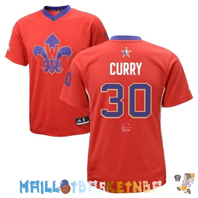 Maillot NBA 2014 All Star NO.30 Stephen Curry Rouge Pas Cher