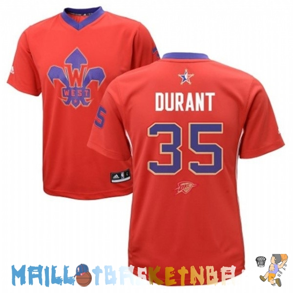 Maillot NBA 2014 All Star NO.35 Kevin Durant Rouge Pas Cher