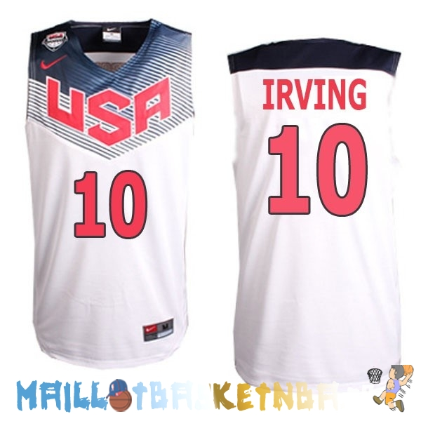 Maillot NBA 2014 USA Irving NO.10 Blanc Pas Cher