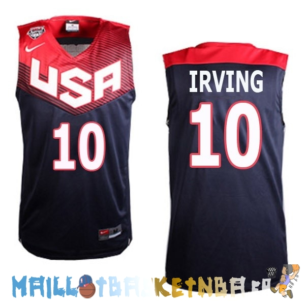 Maillot NBA 2014 USA Irving NO.10 Noir Pas Cher