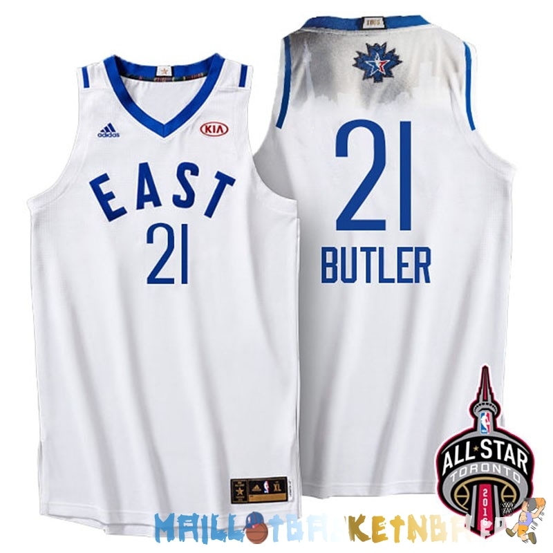 Maillot NBA 2016 All Star NO.21 Jimmy Butler Blanc Pas Cher