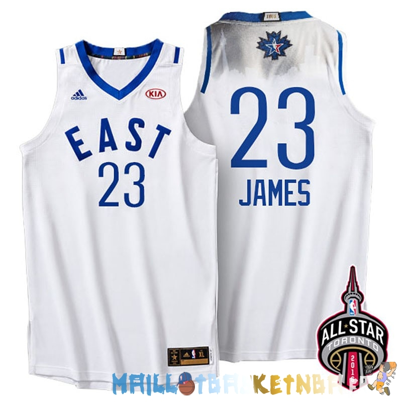 Maillot NBA 2016 All Star NO.23 LeBron James Blanc Pas Cher