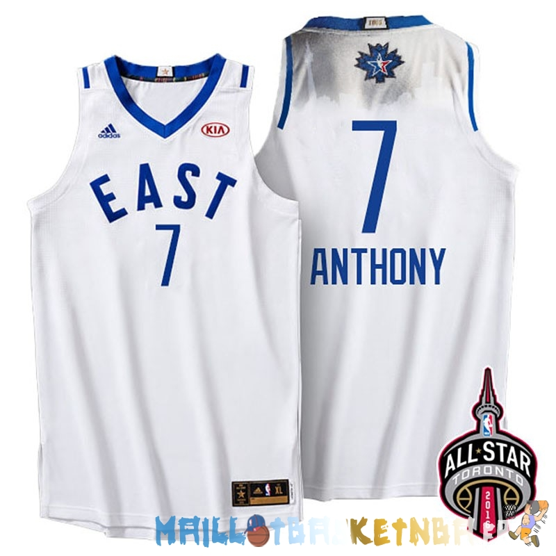 Maillot NBA 2016 All Star NO.7 Carmelo Anthony Blanc Pas Cher