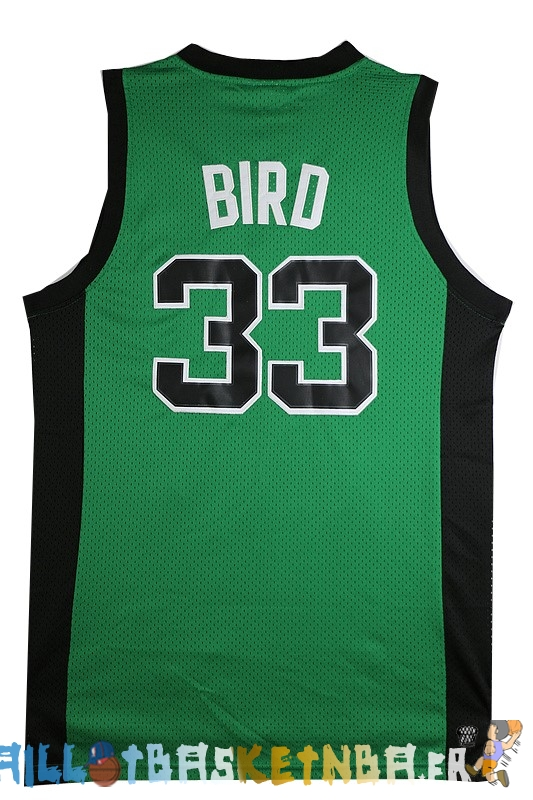 Maillot NBA Boston Celtics NO.33 Larry Joe Bird Vert Noir Pas Cher