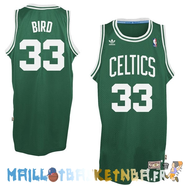 Maillot NBA Boston Celtics NO.33 Larry Joe Bird Vert Pas Cher