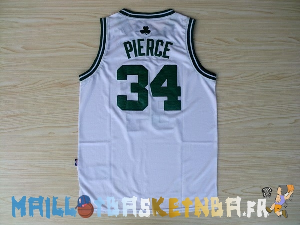 Maillot NBA Boston Celtics NO.34 Paul Pierce Blanc Pas Cher