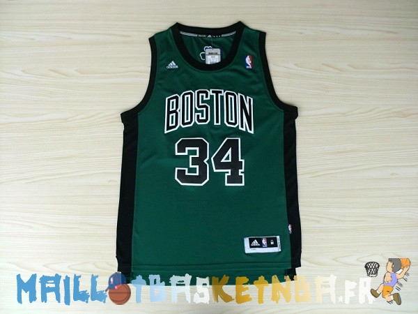 Maillot NBA Boston Celtics NO.34 Paul Pierce Vert Noir Pas Cher