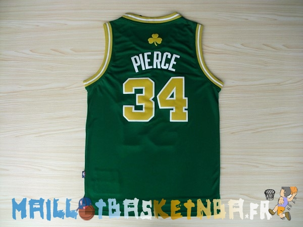 Maillot NBA Boston Celtics NO.34 Paul Pierce Vert Or Pas Cher